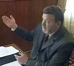 Михаил Евдокимов во время своего последнего телевизионного интервью. Кадр НТВ, архив