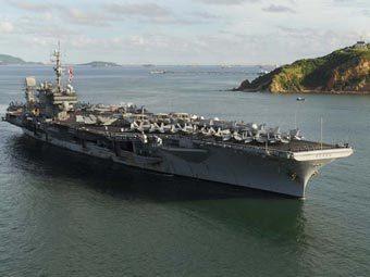 "Авианосец ВМС США ""Китти Хоук"", фото с официального сайта корабля"