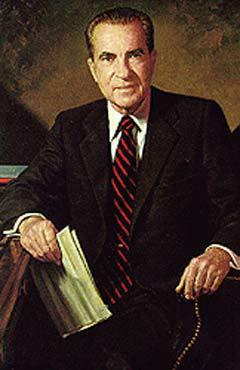 Официальный портрет президента Ричарда Никсона