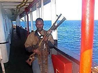 Сомалийский пират. Фото, переданное по каналам AFP