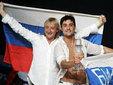 "Евгений Плющенко и Дима Билан на ""Евровидении"". Фото AFP"