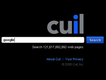 Заглавная страница cuil.com