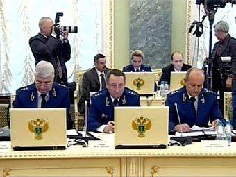 Расширенное заседание Генеральной прокуратуры 25 февраля 2009 года. Кадр