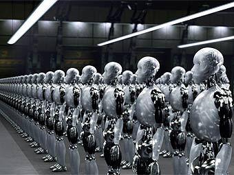 """Кадр из фильма """"Я робот"""""""