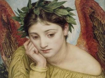Эрато, муза любовной поэзии. Картина Эдварда Пойнтера, фрагмент