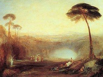 """""""Авернское озеро. Сивилла и Золотая ветвь"""" кисти Уильяма Тернера (фрагмент)"""