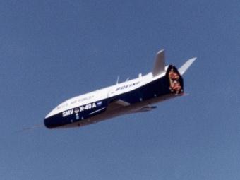 X-40A. Один из прототипов вернувшегося X-37B. Фото с сайта msfc.nasa.gov