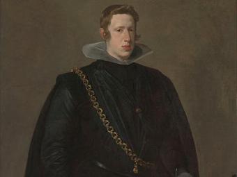 Фрагмент портрета короля Испании Филиппа IV работы Диего Веласкеса из музея Метрополитен