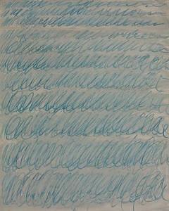 """Сай Твомбли, """"Без названия"""" (1971), бумага, малярная краска, мелки. Цена: 2,378 миллиона долларов. (В высоком разрешении)"""