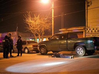 Место убийства в Сьюдад-Хуаресе. Фото ©AFP