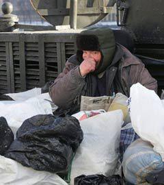 Московский бездомный. Фото (c)AFP