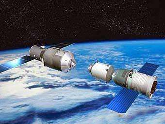 "Компьютерная модель ""Тяньгун-1"". Иллюстрация CNSA"