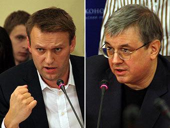 Алексей Навальный и Ярослав Кузьминов