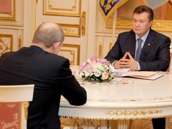 Владимир Путин на встрече с Виктором Януковичем. Фото пресс-службы президента Украины