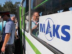 """Бесплатный автобус на авиасалон. Фото Максима Емельянова для """"Ленты.ру"""""""