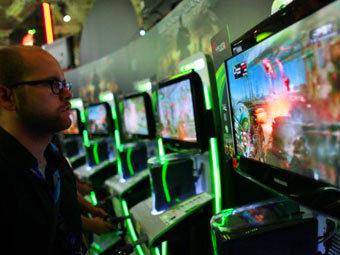На выставке Gamescom. Фото ©AFP