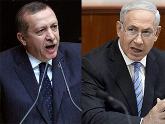 Реджеп Тайип Эрдоган и Биньямин Нетаниягу. Фото ©AFP