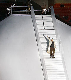 Иван Охлобыстин на стадионе