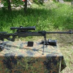 Британская винтовка AWM-F, выпущенная для нужд немецкой армии. Фото с сайта wikipedia.org (нажмите, чтобы увеличить изображение)