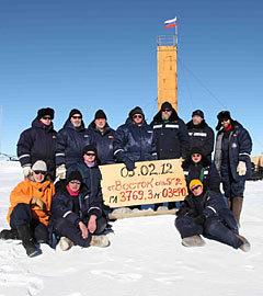 Российские ученые пробурили скважину до поверхности подледного озера Восток. Фото ИТАР ТАСС. (Нажмите, чтобы увеличить)