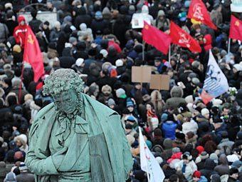 """Митинг """"За честные выборы"""" на Пушкинской площади. Фото РИА Новости, Илья Питалев"""
