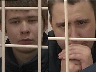 """Дмитрий Яшков (слева) и Илья Ульянов. Кадры """"Пятого канала"""""""