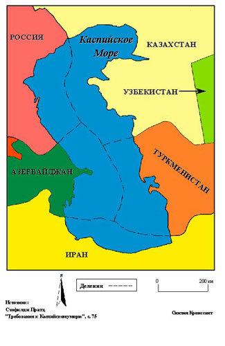 Карта каспийского моря изображение с