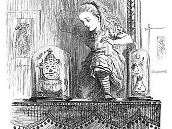 Алиса в Зазеркалье. Иллюстрация John Tenniel, с сайта johntenniel.com