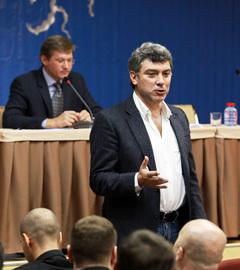 Борис Немцов и Владимир Рыжков. Фото РИА Новости, Андрей Стенин