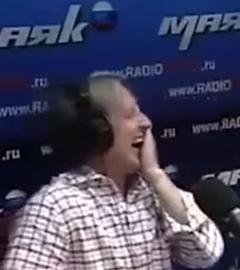 Алексей Веселкин во время эфира