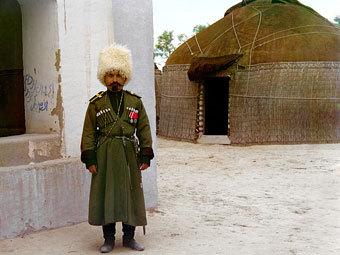 Семиреченский казак. Фотография Сергея Михайловича Прокудина-Горского