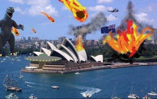 Утро 22 декабря в Австралии. Фото из интернета