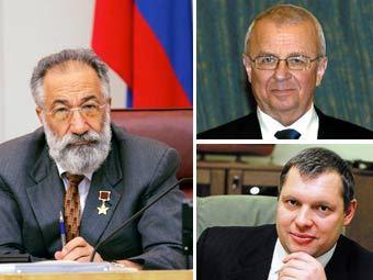 Артур Чилингаров (слева), Анатолий Сагалевич, Михаил Слипенчук (нижний справа). Фотографии предоставлены ФССОБ.
