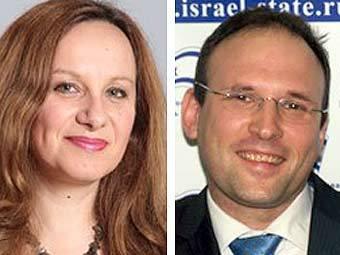 Нэтта Пелег-Брискин и Алекс Гольдман-Шайман. Фото пресс-службы посольства Израиля.