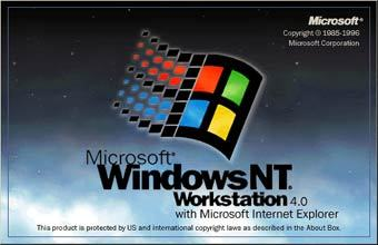 Заставка Windows NT 4 Workstation