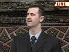 Президент Сирии Башар Асад. Кадр телеканала CNN