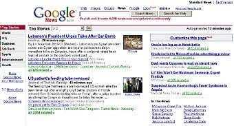 Сайт Google News