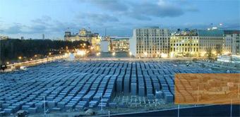 Строительство мемориала Холокоста. Фото с сайта мемориала Холокоста