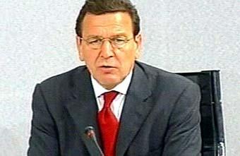 Канцлер Германии Герхард Шредер. Кадр НТВ, архив