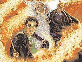 """Фрагмент обложки к книге """"Гарри Поттер и Принц-полукровка"""" с сайта amazon.com"""