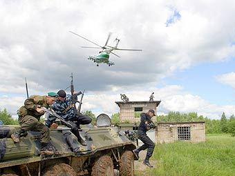 Учения российских пограничников. Фото с сайта customs.ru