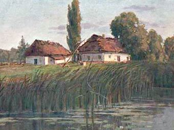 Украинский хутор, открытка с сайта postcards.sgu.ru