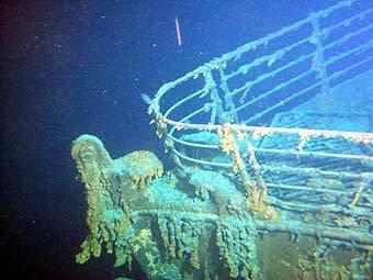 Останки Титаника на дне