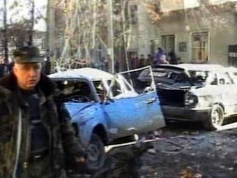 На месте взрыва в Гори. Кадр НТВ, архив