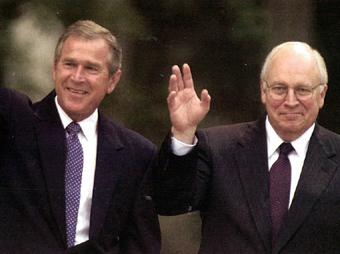 Буш и Чейни, фото с сайта starw.org
