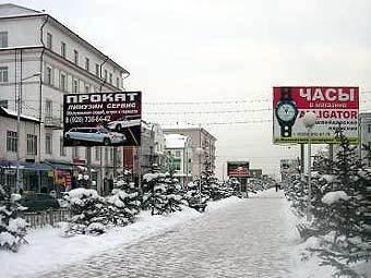 Одна из улиц Грозного. Фото с сайта img.lenta.ru