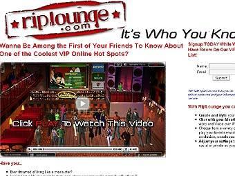 Скриншот главной страницы сайта riplounge.com