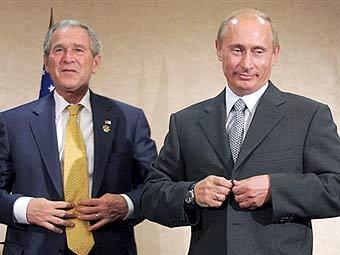 Джордж Буш и Владимир Путин. Фото AFP, архив