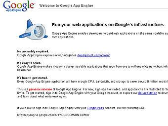 Google подарил программистам движок для веб-приложений
