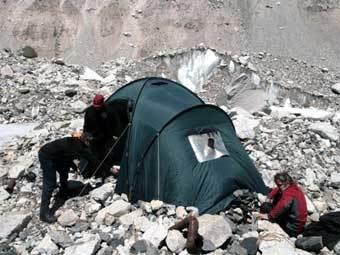 Донецкие альпинисты заподозрили снежного человека в краже макарон